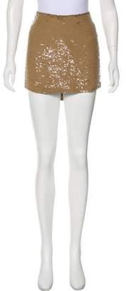 Haute Hippie Silk Sequin Mini Skirt