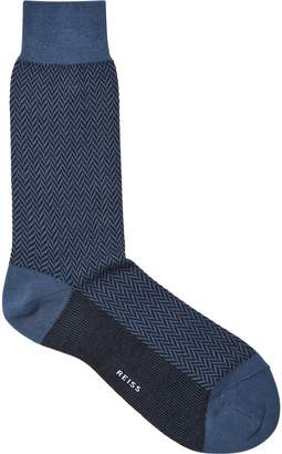 Reiss Kevin Herringbone Socks