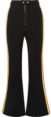 Ellery Riviera Cropped Striped Cady Flared Pants - Black