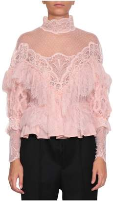 Amen Frilled Lace Blouse