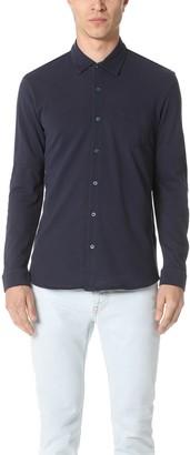 Sunspel Long Sleeve Pique Polo Shirt
