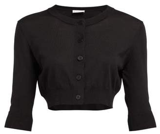 Altuzarra Anita Cropped Silk Blend Knit Cardigan - Womens - Black