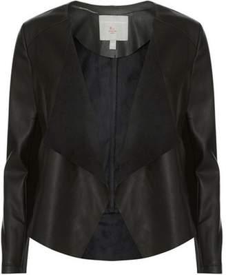 Dorothy Perkins Womens Petite Black Waterfall Jacket