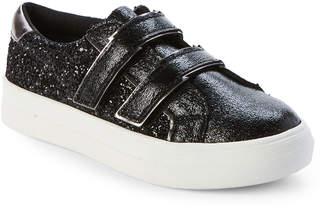 Nina Kids Girls) Black Ashly Glitter Low-Top Sneakers