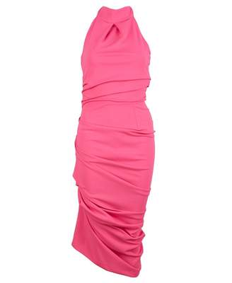 Jolaby Halter Neck Dress Colour: BRIGHT PINK, Size: XS