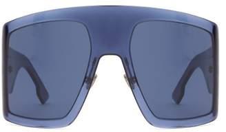 Christian Dior Diorsolight1 Oversized Acetate Sunglasses - Womens - Navy