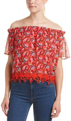 Allison New York Off-Shoulder Floral Top