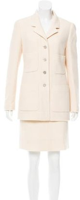 Chanel Wool Two-Piece Skirt Suit $500 thestylecure.com