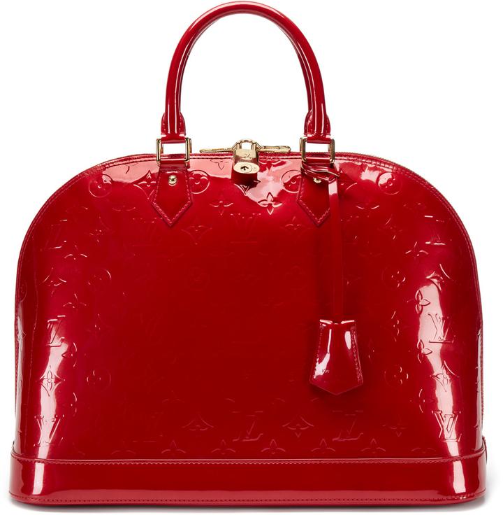 Louis Vuitton Pomme D'Amour Monogram Vernis Alma Bag