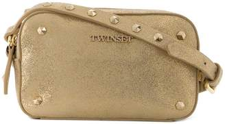 Twin-Set metallic studded shoulder bag