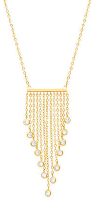 Lord & Taylor Cubic Zirconia 18K Gold Fringe Necklace $90 thestylecure.com
