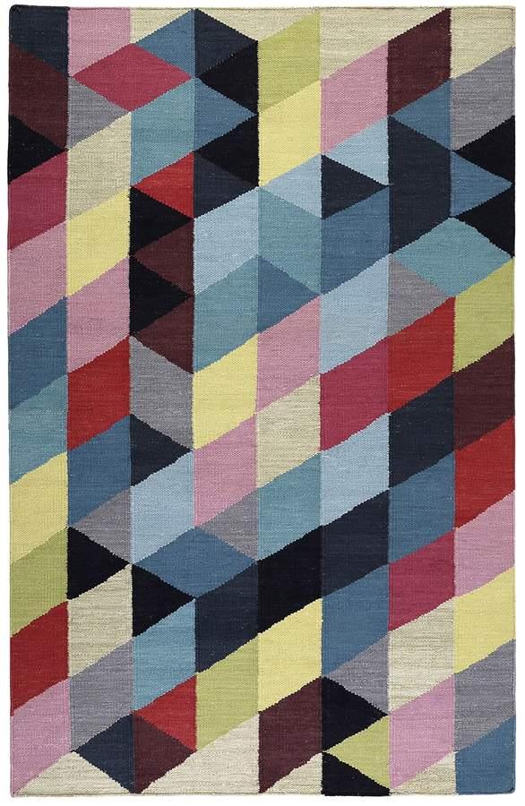 Teppich Rainbow Triangle Kelim handgewebt