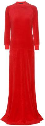 Vetements X Juicy Couture velour maxi dress