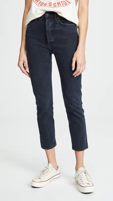 A Gold E AGOLDE Riley High Rise Slim Crop Jeans
