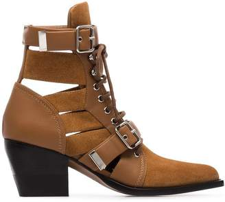 Chloé brown Reilly 60 buckled suede boots