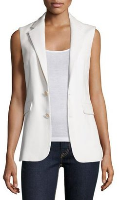 Ralph Lauren Collection Button-Front Vest, Cream $1,490 thestylecure.com