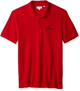 Lacoste Men's Short Sleeve Graphic Bonded Croc Jersey Slim Polo