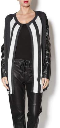 August Silk Striped Cardi