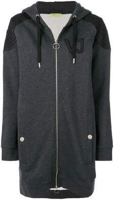 Versace oversized logo patch hoodie