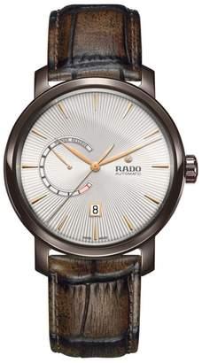 Rado DiaMaster Automatic Leather Strap Watch, 43mm