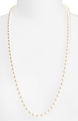 Women's Nadri Long Imitation Pearl Necklace $100 thestylecure.com