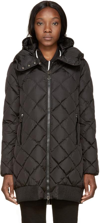 Moncler Black Down Crozant Coat