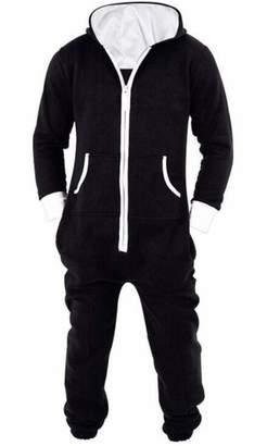 38c4eaceb19d UUYUK Men Hooded Sleepwear One-Piece Onesie Jumpsuit Playsuit Pajamas US 4XL