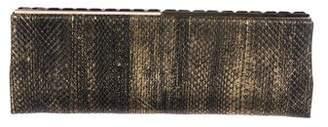 Jimmy Choo Snakeskin Clutch