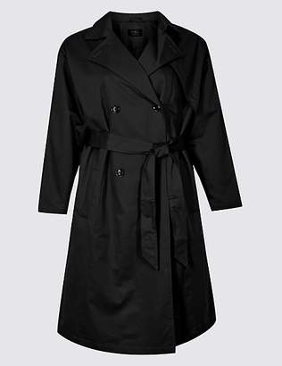 M&S Collection CURVE Longline Trench Coat with StormwearTM