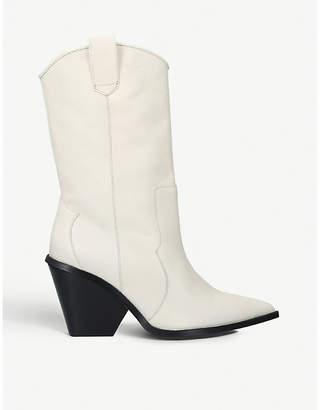 Carvela Sack patent leather cowboy boots