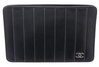 Chanel Vertical Quilted Pouch