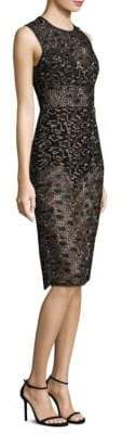 BCBGMAXAZRIA Sheer Lace Knee-Length Dress