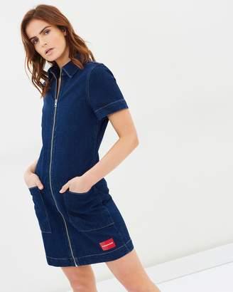 Calvin Klein Jeans Zip Front Diner Dress