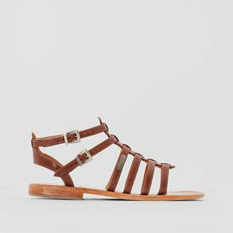 4f3540193cedcd Les Tropéziennes Hic Leather Flat Gladiator Sandals