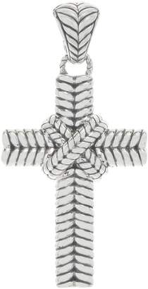Jai JAI Sterling Silver Basketweave Cross Enhancer, 15.7g