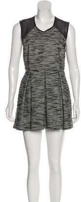 Markus Lupfer Pleated Sleeveless Mini Dress