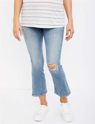 31728d2460190 at A Pea in the Pod · Citizens of Humanity Side Panel Mid-Rise Demy Cropped  Flare Maternity Jeans