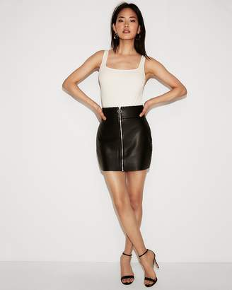 Express Minus The) Leather O-Ring A-Line Skirt