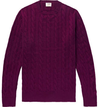 William Lockie Orwell Slim-Fit Cable-Knit Cashmere Sweater