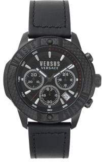 Versace Admiralty Multifunction Analogue Stainless Steel Leather-Strap Watch