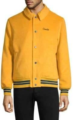 Ovadia & Sons Ovadia Wool Blend Varsity Jacket