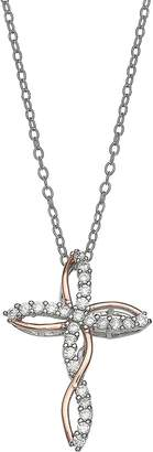 Silver Cross Primrose PRIMROSE Two Tone Sterling Pendant Necklace