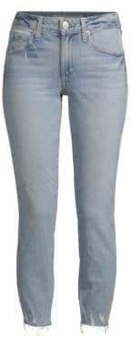 Amo Stix Distressed Cropped Skinny Jeans