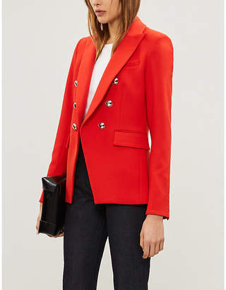 Veronica Beard Miller Dickey double-breasted woven jacket