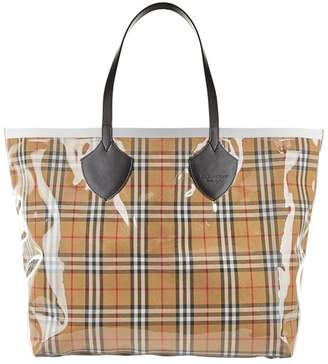Burberry Giant Vintage Check Reversible Tote
