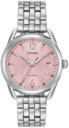 DRIVE FROM CITIZEN ECO-DRIVE Drive from Citizen Womens Silver Tone Bracelet Watch-Fe6080-71x
