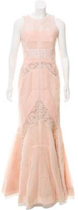 J. Mendel Embroidered Evening Gown
