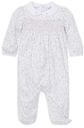 Ralph Lauren Girls' Floral Smocked Cotton Footie - Baby
