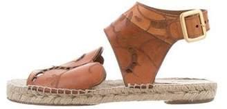 Chloé Laser Cut Espadrille Sandals