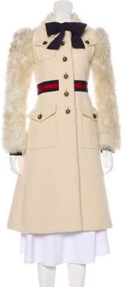Gucci 2016 Shearling-Trimmed Mohair & Alpaca Coat